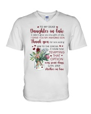 To My Dear Daughter -in-law from Mother-in-law V-Neck T-Shirt thumbnail