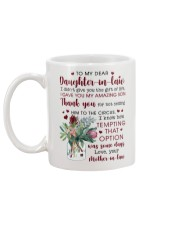 To My Dear Daughter -in-law from Mother-in-law Mug back