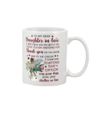 To My Dear Daughter -in-law from Mother-in-law Mug front