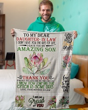 """To My Daughter-in-law From Mother-in-law Small Fleece Blanket - 30"""" x 40"""" aos-coral-fleece-blanket-30x40-lifestyle-front-09"""