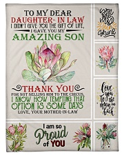 """To My Daughter-in-law From Mother-in-law Small Fleece Blanket - 30"""" x 40"""" front"""