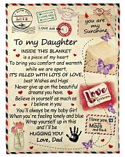To My Daughter From Dad  - Envelope - 03 Fleece Blanket tile