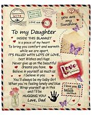 "To My Daughter From Dad  - Envelope - 03 Fleece Blanket - 50"" x 60"" front"