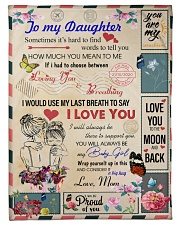 To My Daughter From Mom - Envelope -05 Fleece Blanket tile