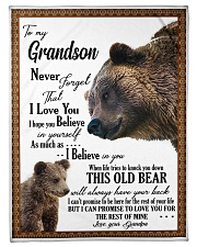 To My Grandson from Grandpa -03 Fleece Blanket tile