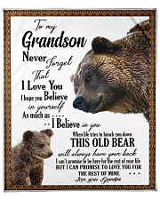 "To My Grandson from Grandpa -03 Fleece Blanket - 50"" x 60"" front"