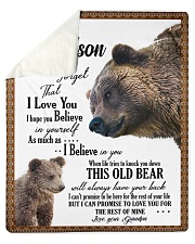 "To My Grandson from Grandpa -03 Sherpa Fleece Blanket - 50"" x 60"" thumbnail"