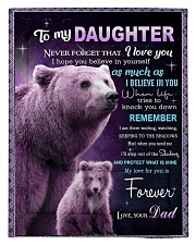 To My Daughter from Dad -  Bear Comforter - Twin thumbnail