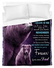 To My Daughter from Dad -  Bear Duvet Cover - Twin thumbnail