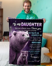 """To My Daughter from Dad -  Bear Small Fleece Blanket - 30"""" x 40"""" aos-coral-fleece-blanket-30x40-lifestyle-front-09"""