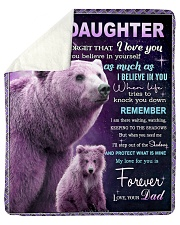 """To My Daughter from Dad -  Bear Sherpa Fleece Blanket - 50"""" x 60"""" thumbnail"""