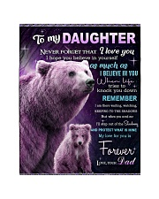 """To My Daughter from Dad -  Bear Quilt 40""""x50"""" - Baby thumbnail"""