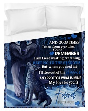 To My Daughter From Mom - Wolf-02 Duvet Cover - Twin thumbnail