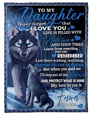 To My Daughter From Mom - Wolf-02 Fleece Blanket tile
