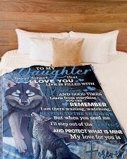 "To My Daughter From Mom - Wolf-02 Large Fleece Blanket - 60"" x 80"" aos-coral-fleece-blanket-60x80-lifestyle-front-02"