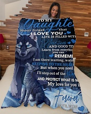 "To My Daughter From Mom - Wolf-02 Large Fleece Blanket - 60"" x 80"" aos-coral-fleece-blanket-60x80-lifestyle-front-04"