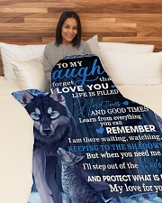 "To My Daughter From Mom - Wolf-02 Large Fleece Blanket - 60"" x 80"" aos-coral-fleece-blanket-60x80-lifestyle-front-05"