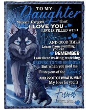 "To My Daughter From Mom - Wolf-02 Large Fleece Blanket - 60"" x 80"" front"