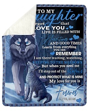 "To My Daughter From Mom - Wolf-02 Sherpa Fleece Blanket - 50"" x 60"" thumbnail"