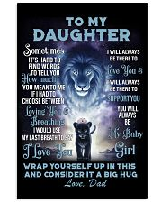 To My Daughter From DAD - Lion- 01 16x24 Poster thumbnail