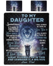 To My Daughter From DAD - Lion- 01 Queen Quilt Bed Set front