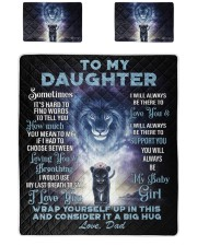 To My Daughter From DAD - Lion- 01 Quilt Bed Set tile