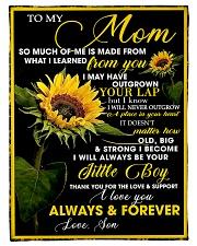 To My Mom from Son - Sunflower 01 Fleece Blanket tile