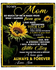 """To My Mom from Son - Sunflower 01 Fleece Blanket - 50"""" x 60"""" front"""