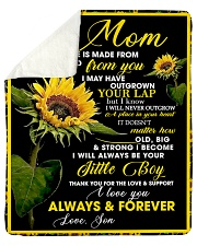 """To My Mom from Son - Sunflower 01 Sherpa Fleece Blanket - 50"""" x 60"""" thumbnail"""