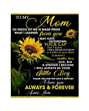 """To My Mom from Son - Sunflower 01 Quilt 40""""x50"""" - Baby thumbnail"""