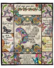"""January Girl -Butterfly Fleece Blanket - 50"""" x 60"""" front"""