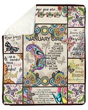 """January Girl -Butterfly Sherpa Fleece Blanket - 50"""" x 60"""" thumbnail"""