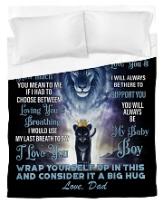 To My Son From Dad Duvet Cover - Twin thumbnail