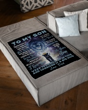 """To My Son From Dad Small Fleece Blanket - 30"""" x 40"""" aos-coral-fleece-blanket-30x40-lifestyle-front-03"""