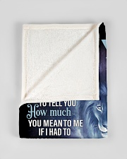 """To My Son From Dad Small Fleece Blanket - 30"""" x 40"""" aos-coral-fleece-blanket-30x40-lifestyle-front-17"""
