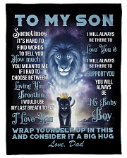 """To My Son From Dad Small Fleece Blanket - 30"""" x 40"""" front"""