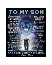 """To My Son From Dad Quilt 40""""x50"""" - Baby thumbnail"""