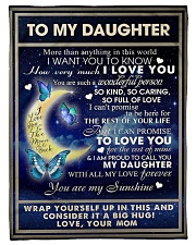 To My Daughter From Mom  - Butterflt -07 Fleece Blanket tile