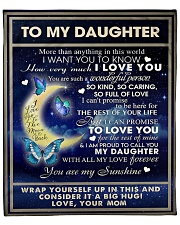 """To My Daughter From Mom  - Butterflt -07 Fleece Blanket - 50"""" x 60"""" front"""