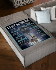 """To My Daughter from Mum - AU-CA - EN Small Fleece Blanket - 30"""" x 40"""" aos-coral-fleece-blanket-30x40-lifestyle-front-03"""