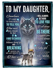 "To My Daughter from Mum - AU-CA - EN Small Fleece Blanket - 30"" x 40"" front"