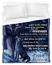 To My Son From DAD -wolf- 02 Duvet Cover - Twin thumbnail