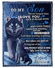 "To My Son From DAD -wolf- 02 Small Fleece Blanket - 30"" x 40"" front"
