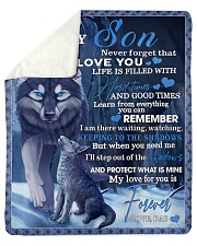 "To My Son From DAD -wolf- 02 Sherpa Fleece Blanket - 50"" x 60"" thumbnail"