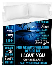 To My Girlfriend - You Are My Life 02 Duvet Cover - Twin thumbnail