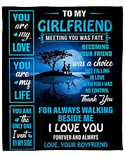 """To My Girlfriend - You Are My Life 02 Fleece Blanket - 50"""" x 60"""" front"""