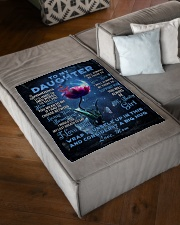 "To My Daughter From Mom - Dragonfly Small Fleece Blanket - 30"" x 40"" aos-coral-fleece-blanket-30x40-lifestyle-front-03"