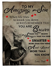 "To My Son From DAD - Elephant- 05 Small Fleece Blanket - 30"" x 40"" front"