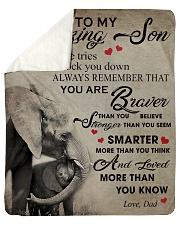 "To My Son From DAD - Elephant- 05 Sherpa Fleece Blanket - 50"" x 60"" thumbnail"