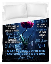 To My Daughter From DAD -Dragonfly Duvet Cover - Twin thumbnail